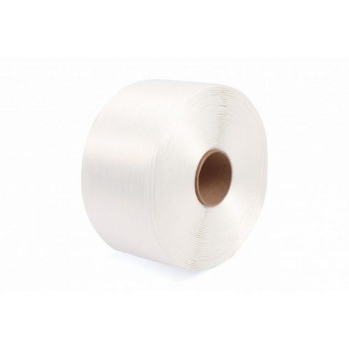 Poliészter (Hot-melt) bálázó pántszalag fehér 9 mm/500m (WG30)