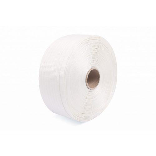 Poliészter szőtt pántszalag fehér 13 mm/1100 m