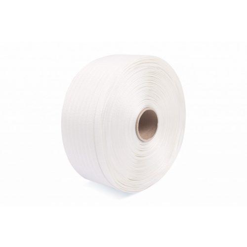 Poliészter szőtt pántszalag fehér 19 mm/600 m