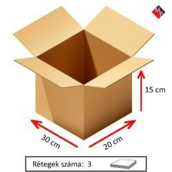 Kartondoboz 30x20x15 cm, 3 rétegű