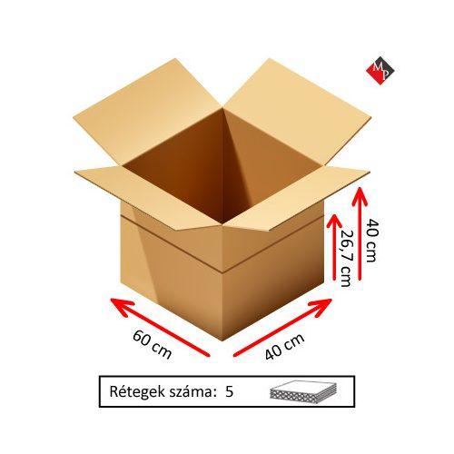 Kartondoboz 60x40x40 cm, 5 rétegű