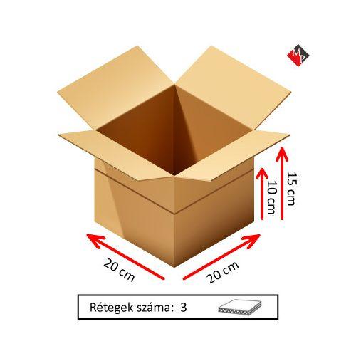 Kartondoboz 20x20x15 cm, 3 rétegű