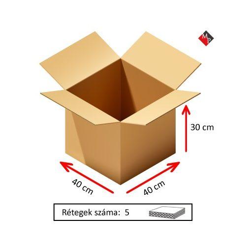 Kartondoboz 40x40x30 cm, 5 rétegű