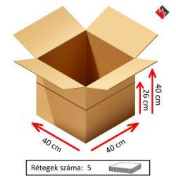 Kartondoboz 40x40x40 cm, 5 rétegű
