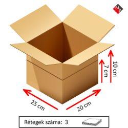 Kartondoboz 25x20x10 / 7 cm, 3 rétegű
