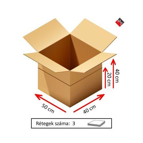 Kartondoboz 50x40x40 / 20 cm, 3 rétegű